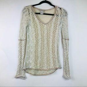 American Rag Lace Open Knit Sweater